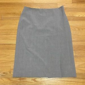 Club Monaco Glen Plaid Pencil Skirt w/ Faux Slit